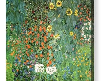 """Gustav Klimt """"Sunflower"""" Canvas Art Repro 8""""x8"""", 10""""x10"""", 16""""x16"""", 20""""x20"""", 24""""x24"""", 30""""x30"""", 44""""x44"""""""