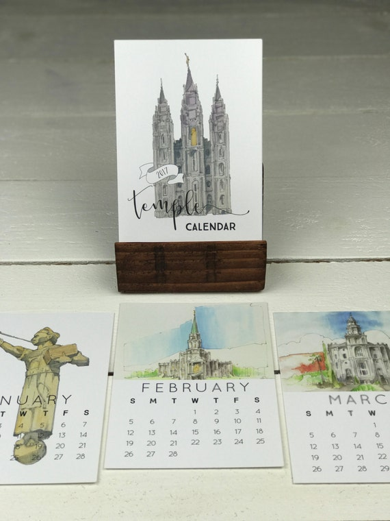 Calendar Wood Stand : Lds calendar and wood stand