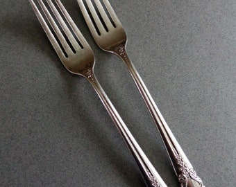 Bridal Veil Vintage Rogers IS Sterling Silver Flatware 2 Dinner Forks