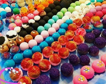 50 Bath Bomb Assortment for 85 dollars. FREE SHIPPING. Party Favors.  Wedding Gifts. Assorted Bath Bombs. Staff Appreciation Gifts.