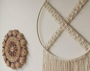 Macrame Dreamcatcher / Modern Macrame curtain / Wall Art / Boho chic Wall Hanging / Wall Tapestry / Macrame Tapestry / bohemian wedding deco