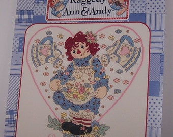 Raggedy Ann and Andy Love Grows In My Garden Counted Cross Stitch Pattern Chart Designs By Gloria & Pat RA-111 February I-2002
