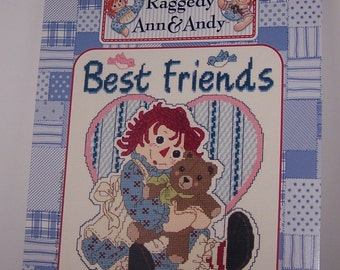 Raggedy Ann and Andy Best Friends Counted Cross Stitch Pattern Chart Designs By Gloria & Pat RA-105 November I-2001