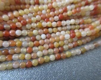 """Peach Aventurine Round Beads 2mm 16"""""""