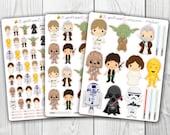 Star Wars sticker, Kawaii, Cute Stickers, Planner Stickers, Pretty,  Erin Condren, ECLP