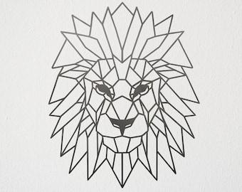 Geometric Lion Etsy