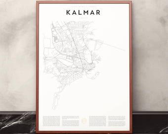 Kalmar Map Print
