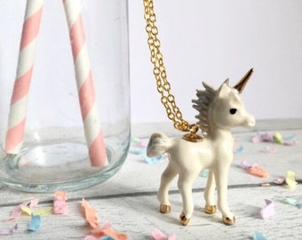 Unicorn, Unicorn Necklace, Unicorn, Unicorn Jewelry, Unicorn Jewellery, ceramic necklace, mythical jewellery, Unicorn Gift, gifts for her