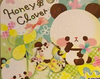 CRUX Honey and Clover, 42 Sticker flakes/ panda sticker flakes/ bird stickers/ planner decoration/ journaling, panda embellishment