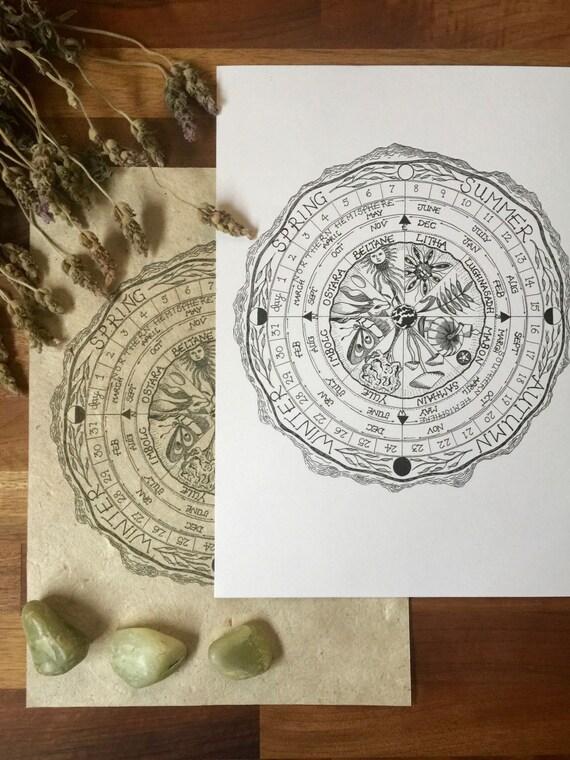 Eternal Calendar Illustration A4 Print