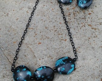 Negative Space Necklace and Earrings