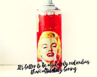 Spraycan Object/Can-Dy/Graffiti Art/Urban Art/Marilyn Monroe Art