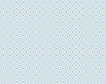 Sew Cherry 2 Leaf Aqua Yardage by Lori Holt for Riley Blake Designs #C5806 100% Cotton