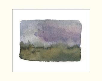 Print, Brouillard, Aquarelle
