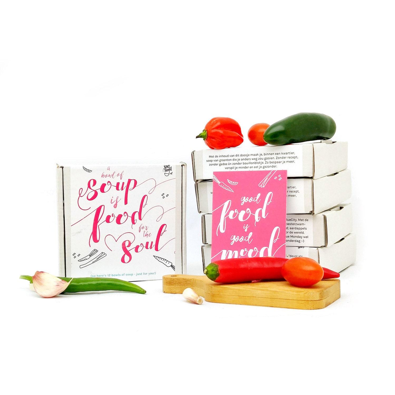 Soep in doosje: deze soul soup is een geweldig cadeautje per post)