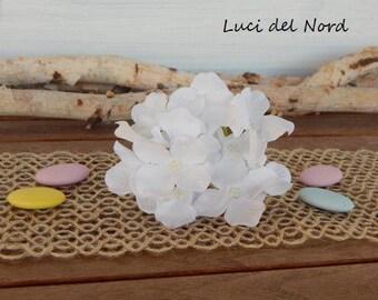 White silk artificial flower hydrangea