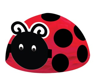 Ladybug Fancy Honeycomb Centerpiece Baby Shower 1st Birthday Party Table Decoration Photo Prop
