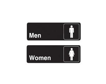 Restroom Decal, Restroom Sign, Restroom Door Sign, Womens Restroom, Mens Restroom