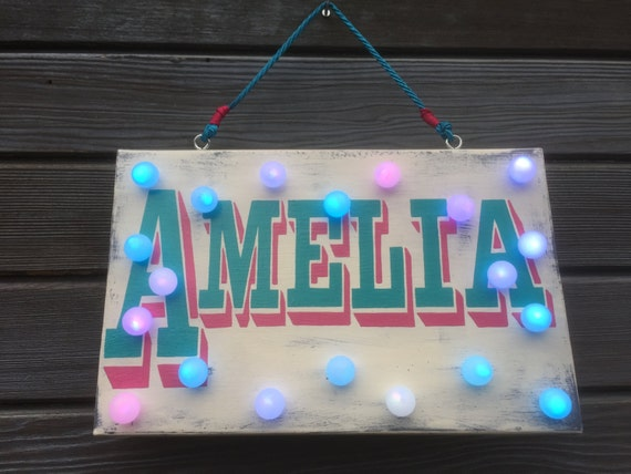 Custom Light Up Name Signs Personalized Sign By