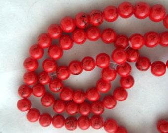 M* - Long Strand of 8 mm Benchwork Glass Beads (1620)