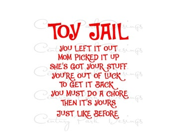 Toy Jail Decal for Container