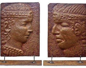Vintage Peruvian Copper Reliefs