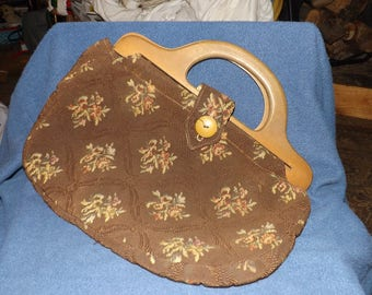 Vintage handmade Cloth Purse