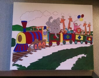 Canvas Painting for childrens room