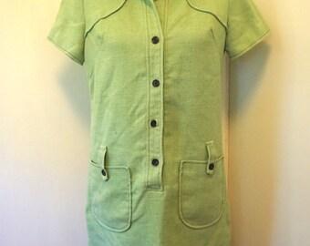 Vintage 1960s Dress / Vintage Dress / Box Dress