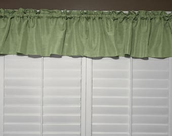 Vintage Linen Valance Solid Willow / Window Decor / Window Treatments