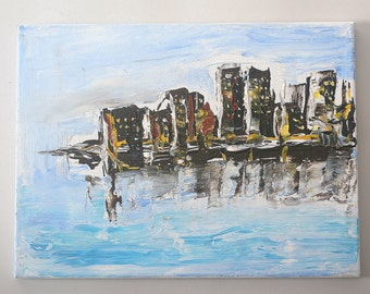 Acrylic Painting - Urban Scape Sinking