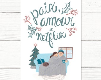 """Card """"Paix et amour"""""""