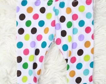 Baby Toddler Polka Dot Leggings, Colorful Polka dot Leggings