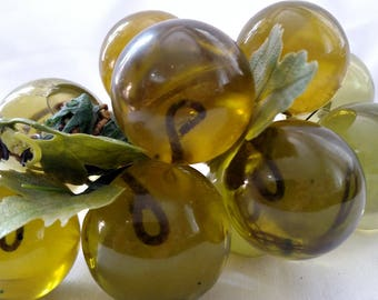 Vintage Green Lucite Grapes - Lucite Grapes - Vintage Grapes - Mid Century Modern Decor