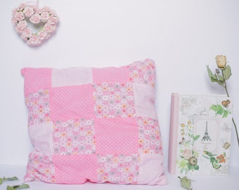Pink Patchwork Cushion (2)
