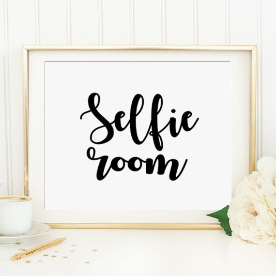 Items similar to selfie room funny bathroom wall art printable funny art bathroom wall decor - Funny bathroom wall decor ...