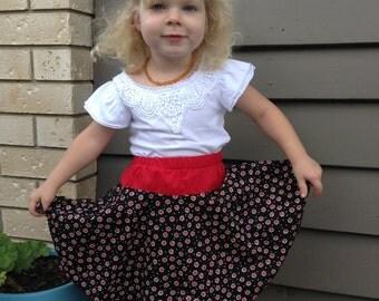 Size 3 Red Flower skirt