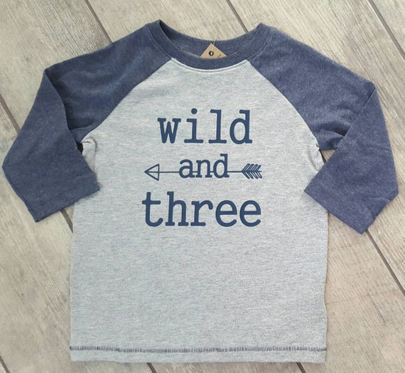 Wild And Three - toddler baseball raglan shirt - ONE OF A Kind - child/baby accessories - size 3T