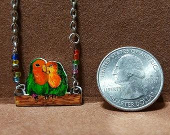 Lovebird Parrot Couple Necklace