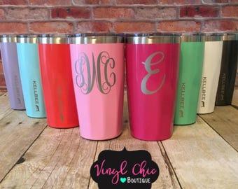 Stainless Steel Tumbler, Coffee cup, coffee mug, personalized tumbler, Kellbee cup, monogram