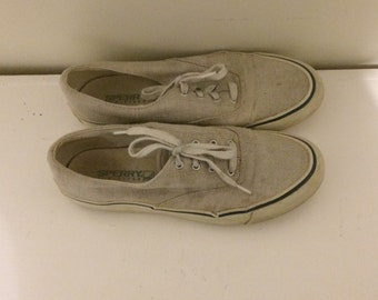 vtg canvas sperry topsider sneakers women's 7.5