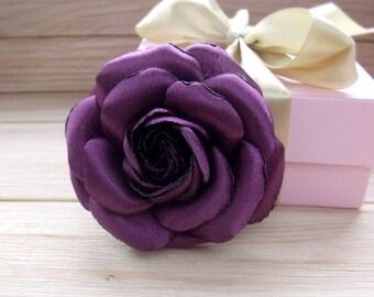 Camellia brooch, chanel style, flower brooch, purple flower, camellia for hair, camellia decoration, handmade flower, stylish brooch