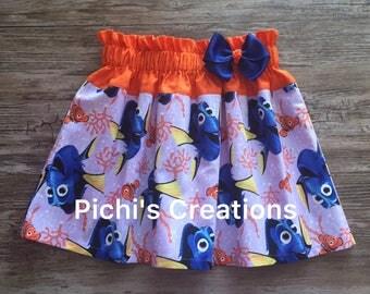 Dory Skirt, Finding Dory Skirt, Dory and Nemo Skirt