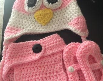 Crocheted Diaper Set