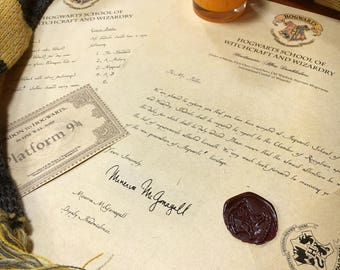 Personalised Harry potter Hogwarts Acceptance Letter