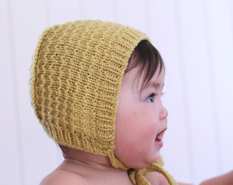 "Baby bonnet knitting pattern ""Astrid"" - pdf download - baby hat pattern - simple knitting pattern- Kyse oppskrift-"