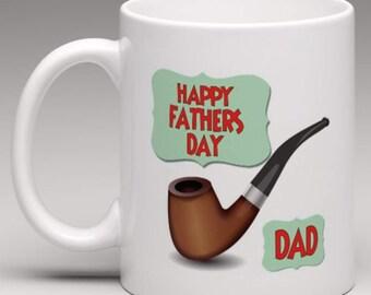 Fathers day Pipe Smoker Mug -  Fathers Day Novelty Mug