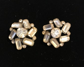 Set of 2 Paste Crystal buttons  loop shank