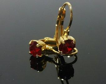 Swarovski Crystal dangle earrings 24ss 1088 Chaton