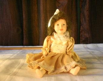 Vintage Porcelain Doll - Free Shipping